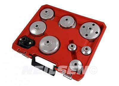 """9pc 3/8"""" drive Oil Filter Wrench Remover Set Cup Type Removal Car Garage Tool"""