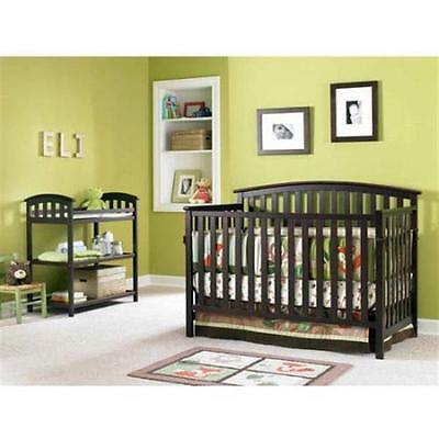 Graco Freeport 4-in-1 Convertible Fixed-Side Crib, Cherry NEW