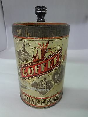 Vintage Thos.wood & Co Brand Coffee Tin Advertising Collectible Graphic  151-X