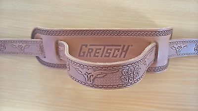 gretsch tooled leather guitar strap