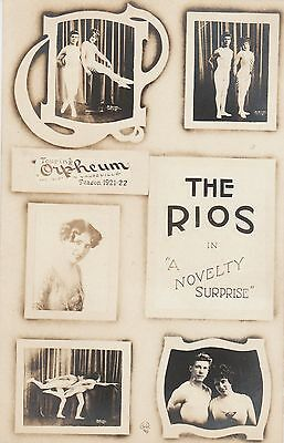 RP Postcard. Theatre Vaudeville. The Rios. 1923.Actors