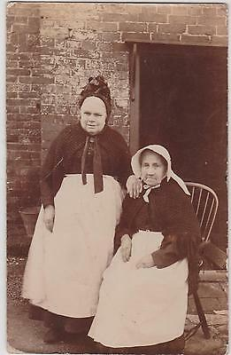 Rp Two Old Maids Brooks Family Collection Forncett Norfolk   Real Photo C 1905