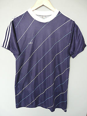 Vintage Adidas 80's Football Shirt Trikot Made In West Germany Sz Large D7/8