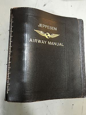 """Jeppesen Airway Chart Manual Bonded Leather 2"""" Binders (26 Each Used Available)"""