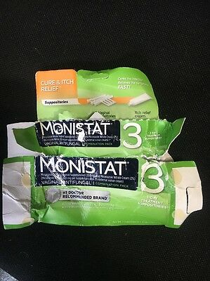 Monistat 3 3 Day Treatment Suppositories Open Box Free Shipping