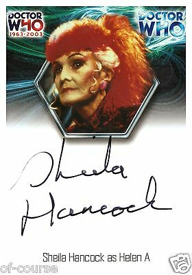 Dr / Doctor Who 40Th Shelia Hancock / Helen A Auto / Autograph Wa14 Trading Card