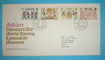 GB First Day Cover - 1981 - Folklore - Special handstamp - Edinburgh