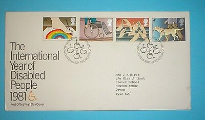 GB First Day Cover - 1981 - Year of Disabled - Special handstamp - Edinburgh
