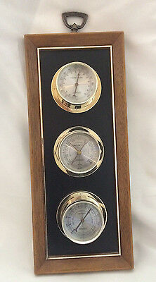 SPRINGFIELD Weather Station Thermometer Barometer Hygrometer Mid Century Vintage