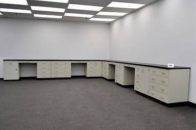 REFURBISHED  34' Base Laboratory Cabinets W/  Counter Tops  - L356 -