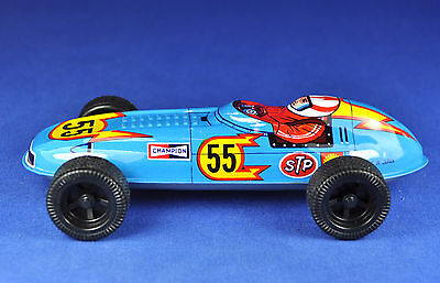 Blechspielzeug / Tin Toy STP 55 Rennauto / Racing Car, Japan, ca 1970er / -ies