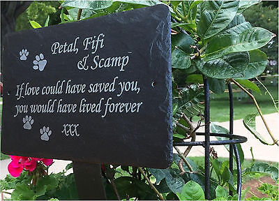 1st 4 Signs- Slate memorial plaques - Beautiful Personalised Commemorative Stone