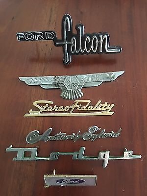 Vintage Car Badges Lot Ford,Austin, Dodge Etc...