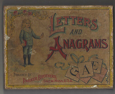 Letters and Anagrams Parker Brothers, Salem, Mass., U.S.A.