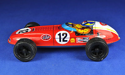 Blechspielzeug / Tin Toy STP 12 Rennauto / Racing Car, Japan, ca 1970er / -ies