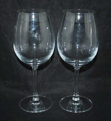 Dartington Crystal - A Pair of Large Wine Glasses - Signed - vgc