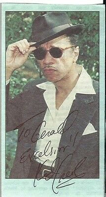 Kid Creole (Legendary Singer). Genuine Hand Signed Col Paper Photo.