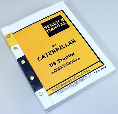 cat d8 tractor caterpillar service repair manual technical shop book rh picclick com caterpillar service manual c12 caterpillar service manual free download