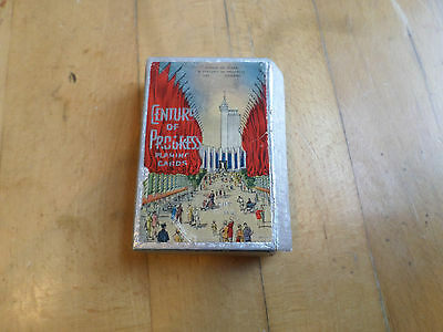 """Vintage 1933-34 Chicago World's Fair """"Century Of Progress"""" Playing Cards In Box"""