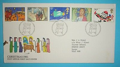 GB First Day Cover - 1981 - Christmas -Special h/stamp - Bethlehem
