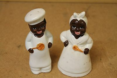 Vintage Aunt Jemima And Uncle Mosses Salt And Pepper Shakers