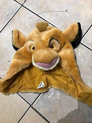 Disney Lion King Simba Plush Hat For Large Child/small Adult
