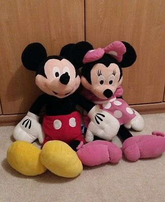 Giant Mickey and Minnie mouse plush toys over 70cm