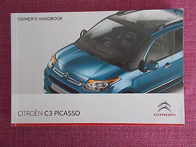 Citroen C3 Picasso (2012 - 2016) Owners Manual - User Guide - Handbook  (Acq 50)