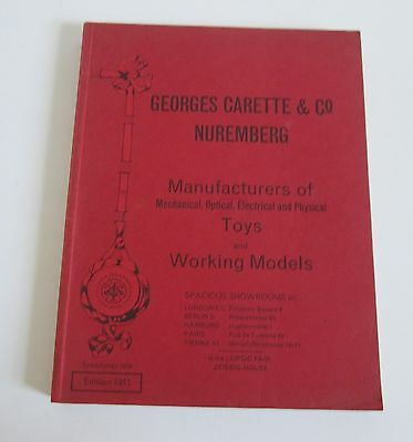 Georges Carette 1911 Antique Mechanical Toys Trade Catalog 1975 Cavendish Ed.