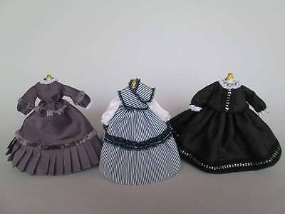 Miniature dresses for doll in 1:12 scale dollhouse dolls by Paola&Sara Miniature