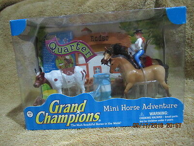 Grand Champions Mini Horse Adventure Quarter Horse Play Set By Empire Toys New
