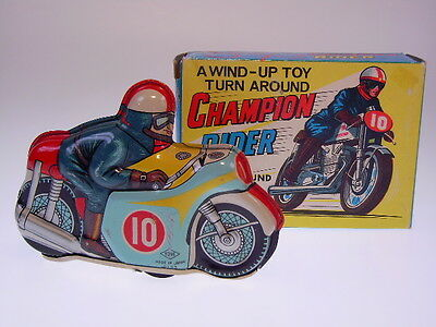 "GSMOTO  ""CHAMPION RIDER"" YONE aus Japan, 12cm, WIND UP, NEU/NEW/NEUF IN BOX  !!"