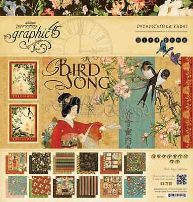Graphic45 Bird Song 12x12  Designer Paper Pad - NEW