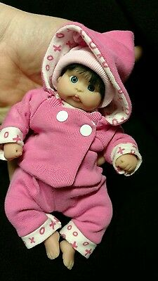 Ooak polymer clay baby art doll by sabrinasunshine123