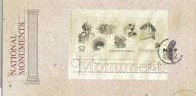 SINGAPORE - 2010 - FDC: National Monuments. Miniature Sheet
