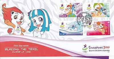 SINGAPORE - 2010 - FDC: Youth Olympic Games Singapore 2010. 4v