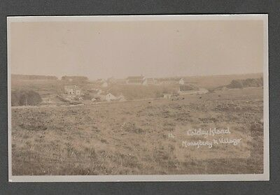 Wales - Monastery & Village  Caldey Island Real Photo Postcard 14