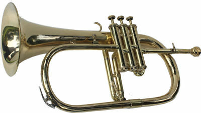 **WOW EQUISITE! Bb FLAT FLUGEL HORN BRASS NEW WITH FREE HARD CASE+MOUTHPIECE