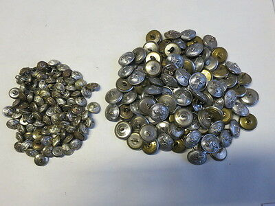 Herts Fire Brigade Tunic Buttons Approx. No.60 Large 50 Small - Obsolete