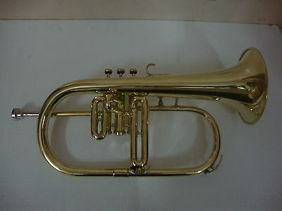 WHAREHOUSE SALE! Bb FLAT FLUGEL HORN BRASS NEW WITH FREE HARD CASE+MOUTHPIECE