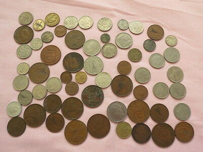 60 Assorted Foreign Coins from 16 Country's