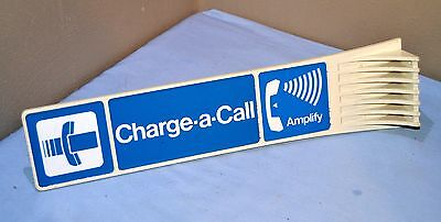 Vintage Southwestern Bell Phone Booth Charge a Call Amplify Sign William Frick