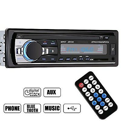 GHB Bluetooth Car Audio Stereo 1 DIN In Dash 12V FM Receiver with MP3 Radio P...