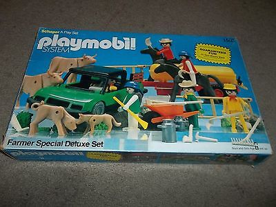 Box Only Playmobil Farmer Special Deluxe Set #1503 Vintage 1980
