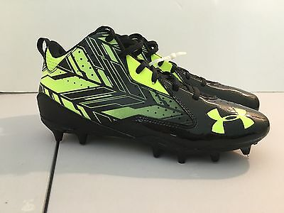 Under Armour Men's Ripshot NEW Mid MC Lacrosse Cleats - Black/Yellow  Size 10
