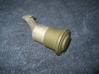 Vintage Willys Jeep glove box lock latch push button army green Military green
