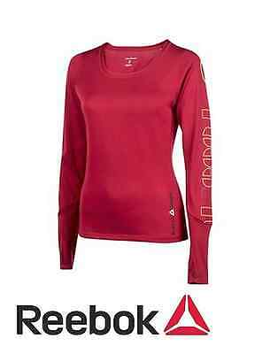 Tee-shirt manches longues Reebok CrossFit Cupron fitness top femme rouge