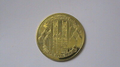 Royal Wedding Prince William & Kate Middleton 22K Gold Plate commemorative coin