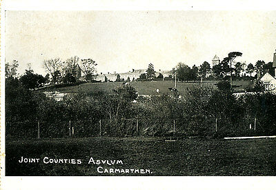 CARMARTHENSHIRE - 1902 ? Postcard of Joint Counties Asylum, Carmarthen