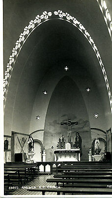ANGLESEY- RP postcard of RC Church, Amlwch - 1930s ?? (INTERNAL)